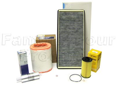 Service Filter Kit - Oil Air Fuel Pollen Filters with Drain Plug Washer -  -