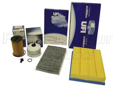 Service Filter Kit - Oil Air Fuel Pollen Filter with Drain Plug