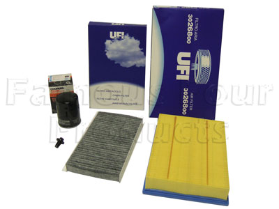 Picture of FF006758 - Service Filter Kit - Oil Air and Pollen Filter with Drain Plug