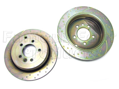 Brake Disc - High Performance Dimpled and Rotor Grooved