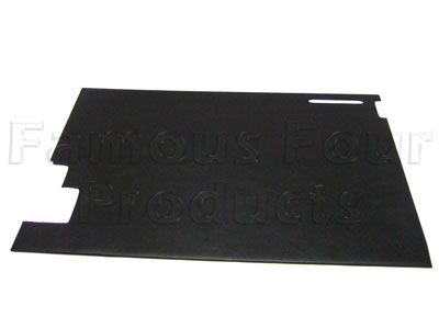 FF006939 - Rear End Door Trim Card - Interior - Black - Land Rover Series IIA/III