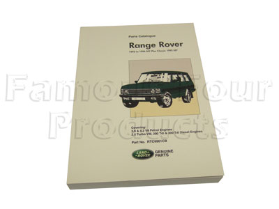 Range Rover 1992-1994 Parts Book