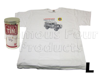 T Shirt (White) In a Tin - Large
