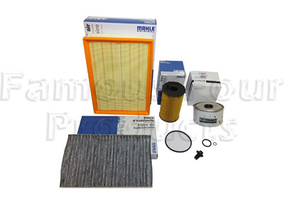 Service Filter Kit - Oil Air Fuel Pollen Filters with Drain Plug -  -