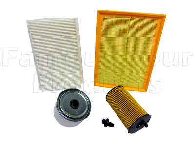 Picture of FF007521 - Service Filter Kit - Oil Air Fuel Pollen Filters with Drain Plug
