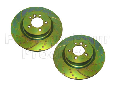 Brake Disc - High Performance Dimpled and Grooved