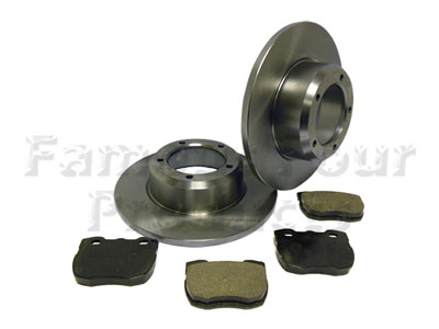 Front Brake Disc and Pad Axle Set