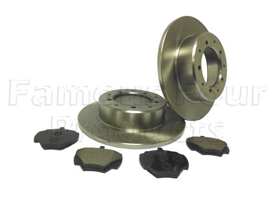 Rear Brake Disc and Pad Axle Set