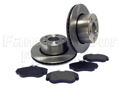 FF007974 - Front Brake Disc and Brake Pad Axle Set - Land Rover Discovery Series II