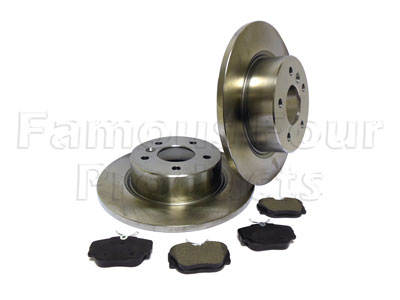 Rear Brake Discs and Brake Pads Axle Set -  -