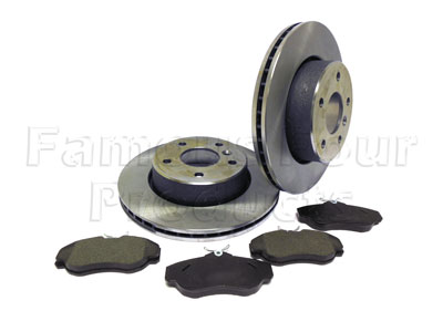 Front Brake Discs and Brake Pads Axle Set -  -
