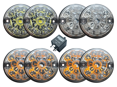 FF008058 - Clear Lens Light Kit - LED - Land Rover Series IIA/III