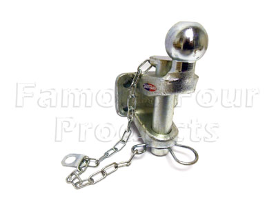 Picture of FF008146 - Combination Tow Ball & Jaw - 3.5 tonne load capacity Ball 5 tonne Jaw. Removeable pin.