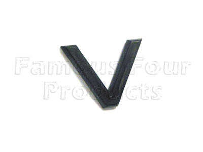 Picture of FF008224 - Plastic Lettering - V -