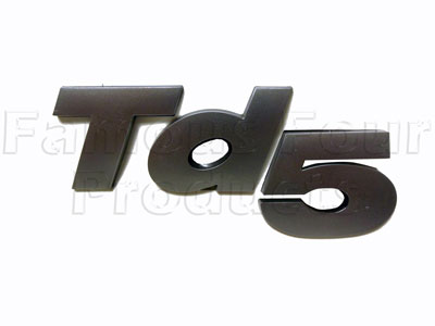 Picture of FF008600 - Badge - Td5 - Brunel Grey 3D Raised