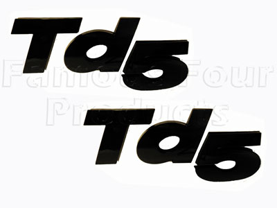 Picture of FF008601 - Badge - Td5 - Black 3D Raised