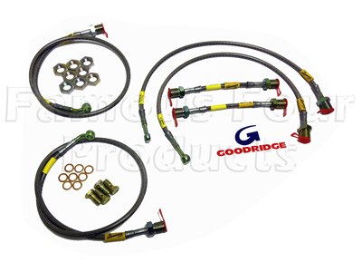 6-Hose Braided Brake Flexi-Hose Kit