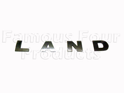 Picture of FF008912 - L A N D Bonnet Lettering