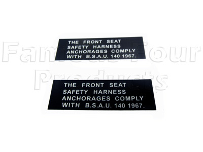 SAFETY HARNESS decal