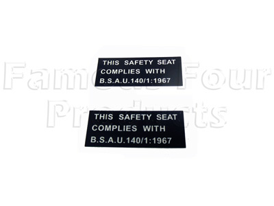 SAFETY SEAT decal -  -