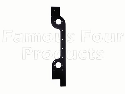 Rear Lower Body Side End Corner Capping - Black Metal -  -