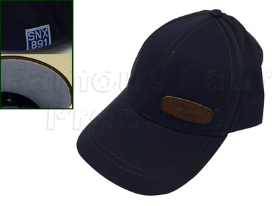 Picture of FF009707 - Baseball Cap - Navy Blue with Leather-effect Oval logo