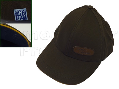 Baseball Cap - Brown with Leather-effect Oval logo