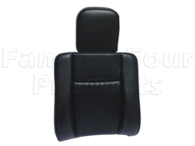 FF009904 - Outer Front Seat Back - Deluxe - with Headrest - Land Rover Series IIA/III