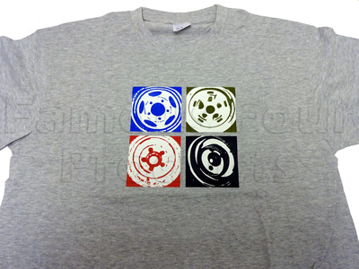 Picture of FF009936 - T Shirt (Grey) Wheel Design - Extra Extra Large