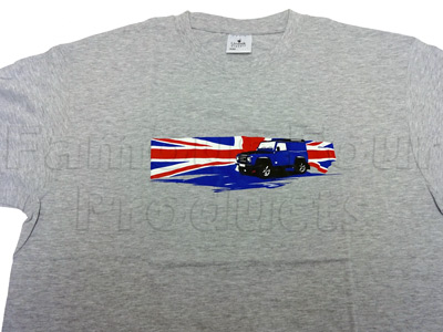 Picture of FF009944 - T Shirt (Grey) Union Jack Design - Extra Large