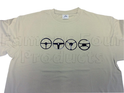 Picture of FF009948 - T Shirt (Beige) Steering Wheel Design - Extra Extra Large