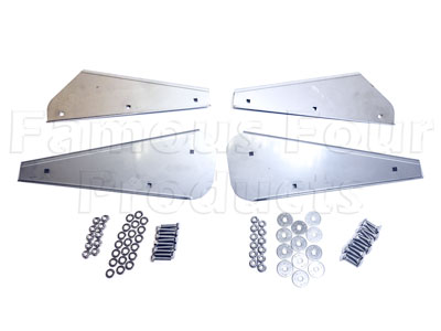 FF010002 - Brackets for Mudflap Rubbers - Stainless Steel - Land Rover 90/110 and Defender