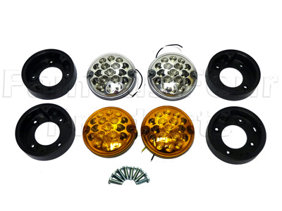 LED NAS Spec Front Light Kit - 4 inch diameter -  -