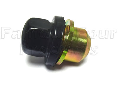 Gloss Black Capped Wheel Nut for OE Alloy Wheels