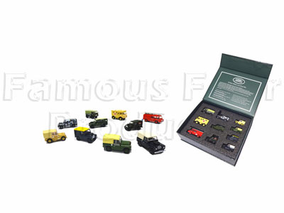 10 Piece Model Collectors Set - Military Land Rovers