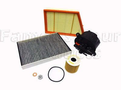 Service Filter Kit - Oil Air Fuel Pollen Filters with Drain Plug Washer