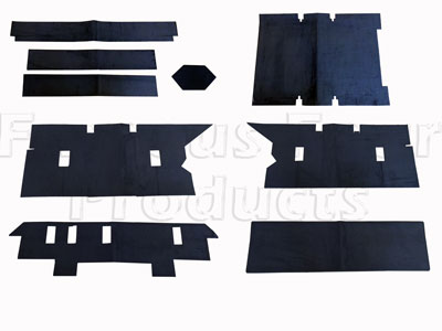 Rear Carpet Set - Premium Quality - Black -  -