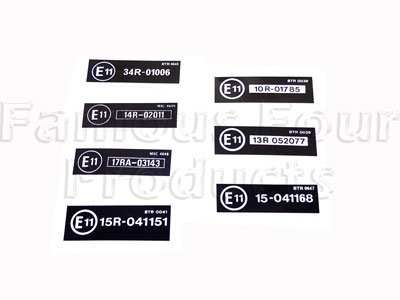 Slam Panel Decals - E11 Set