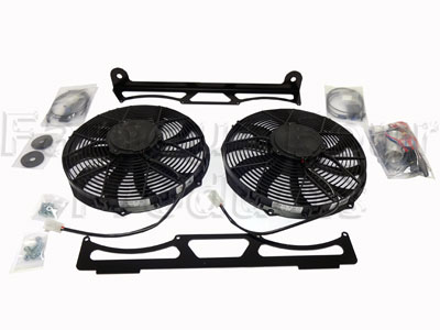Engine Cooling Twin Fan Kit - Suction -  -