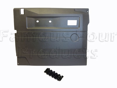 FF011675 - Front Door Trim Card - Interior - Grey - Land Rover 90/110 and Defender