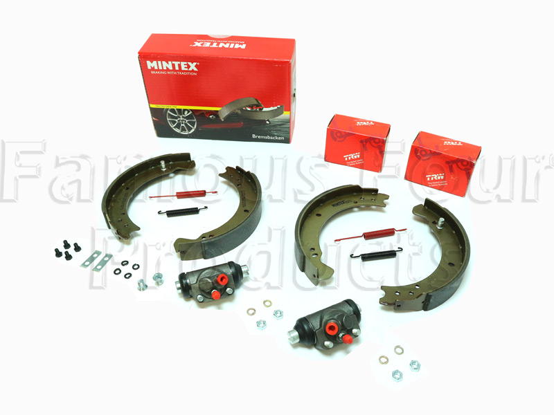 FF011714 - Brake Shoe & Wheel Cylinder Axle Kit - Land Rover Series IIA/III