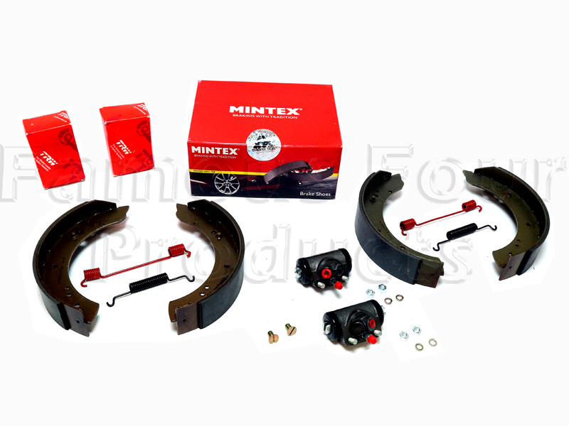 Brake Shoe & Wheel Cylinder Axle Kit -  -