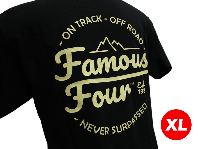 T Shirt (Black) Exclusive Design 1 - Extra Large