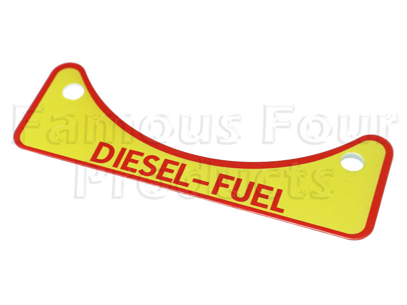 FF012105 - DIESEL Fuel Badge - Land Rover Series IIA/III
