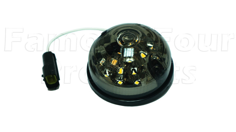 FF012345 - Front Indicator Lamp - Smoked LED - Land Rover Series IIA/III